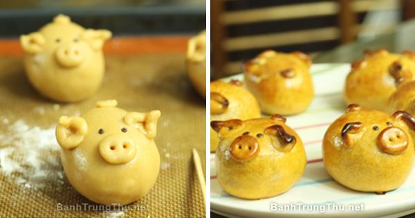 Cách làm bánh con heo dịp tết trung thu